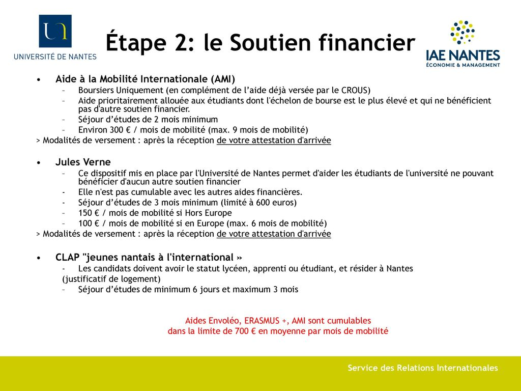 bourse etudiant europe